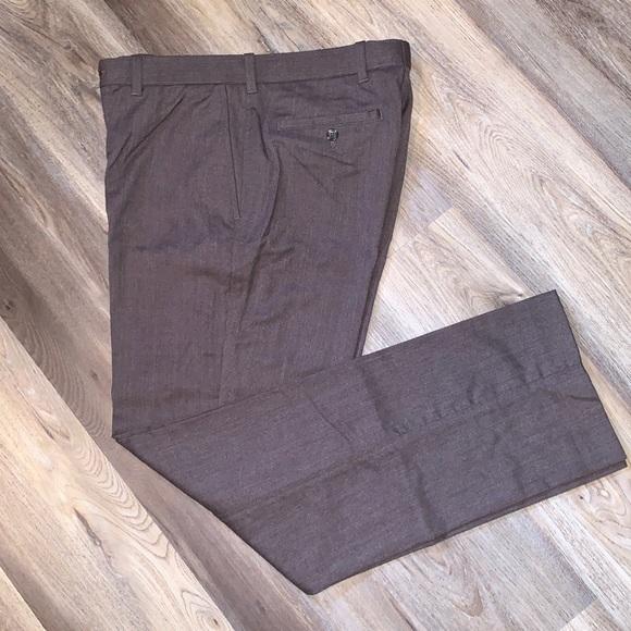 Black Brown wool slacks